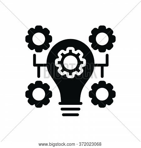 Black Solid Icon For Innovation Bulb Concept Idea Inspiration Customize