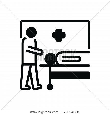 Black Solid Icon For Casualties Casualty Wounded Captured  Injured