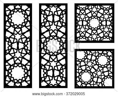Laser Cut Vector Panels Kit. Cnc Decor Template, Jali Design, Interior Partition. Islamic, Arabic La