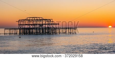 Old Brighton Pier In The Sunset - Travel Photography