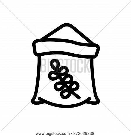 Thyme Ingredient Bag Icon Vector. Thyme Ingredient Bag Sign. Isolated Contour Symbol Illustration