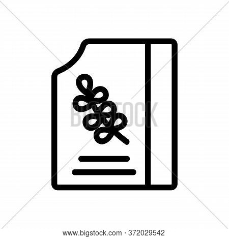 Thyme Opened Package Icon Vector. Thyme Opened Package Sign. Isolated Contour Symbol Illustration