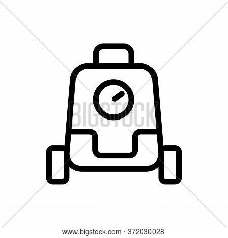 Pressure Washer Cleaner Icon Vector. Pressure Washer Cleaner Sign. Isolated Contour Symbol Illustrat