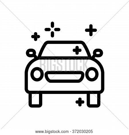 Car Pressure Washer Icon Vector. Car Pressure Washer Sign. Isolated Contour Symbol Illustration