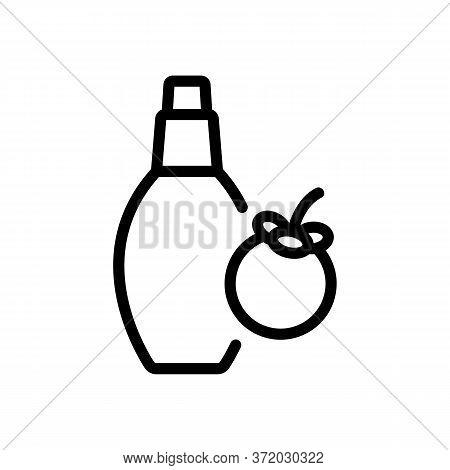 Mangosteen Perfume Bottle Icon Vector. Mangosteen Perfume Bottle Sign. Isolated Contour Symbol Illus