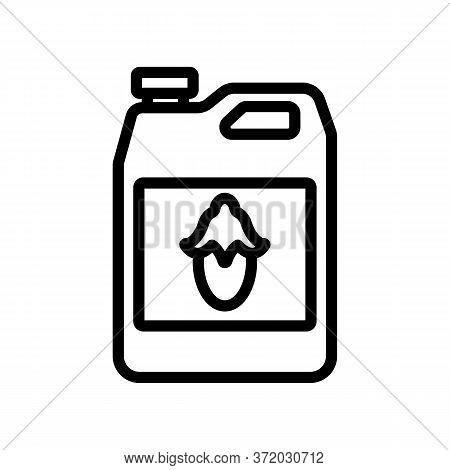 Jojoba Liquid Canister Icon Vector. Jojoba Liquid Canister Sign. Isolated Contour Symbol Illustratio