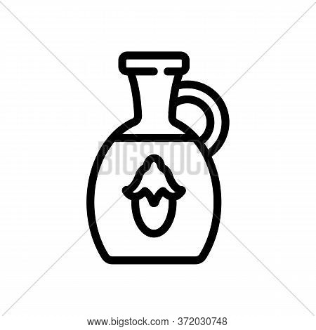 Jojoba Liquid Carafe Icon Vector. Jojoba Liquid Carafe Sign. Isolated Contour Symbol Illustration