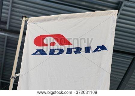 Bordeaux , Aquitaine / France - 11 07 2019 : Adria Campervans Sign Logo Dealership Store Camper Shop