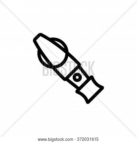 Dog Training Whistle Icon Vector. Dog Training Whistle Sign. Isolated Contour Symbol Illustration