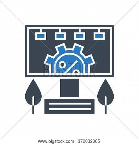 Adverting Service Related Vector Glyph Icon. Isolated On White Background. Vector Illustration.