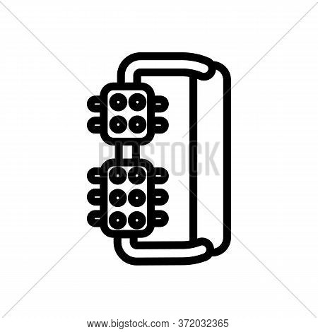 Cellulite Therapy Massager Icon Vector. Cellulite Therapy Massager Sign. Isolated Contour Symbol Ill