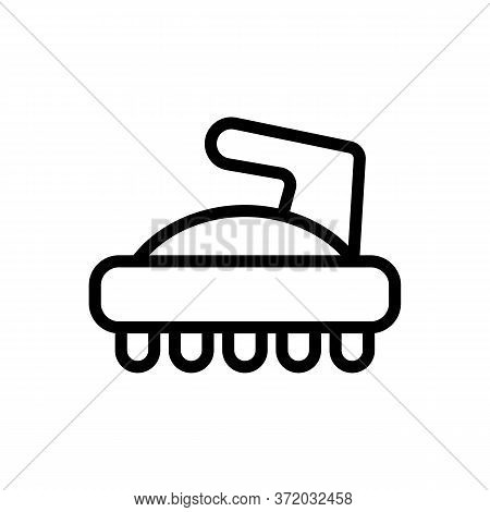 Cellulite Massager Icon Vector. Cellulite Massager Sign. Isolated Contour Symbol Illustration
