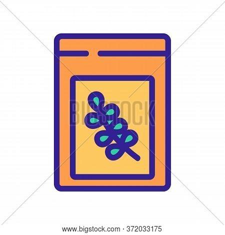 Thyme Bottle Icon Vector. Thyme Bottle Sign. Color Symbol Illustration