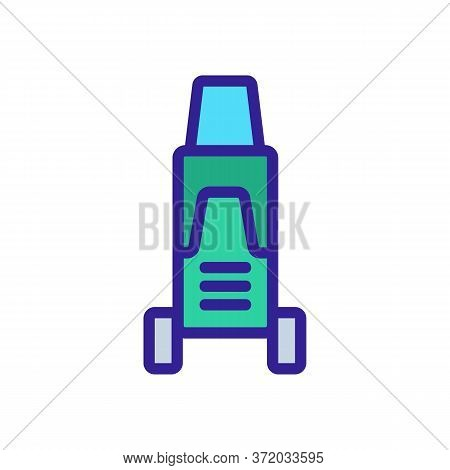 Pressure Washer Station Appliance Icon Vector. Pressure Washer Station Appliance Sign. Color Symbol