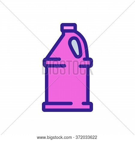 Washing Liquid Canister For Pressure Washer Icon Vector. Washing Liquid Canister For Pressure Washer