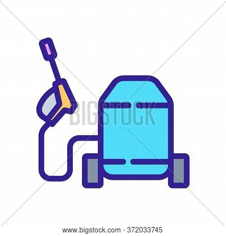 Pressure Washer Electronic Device Icon Vector. Pressure Washer Electronic Device Sign. Color Symbol