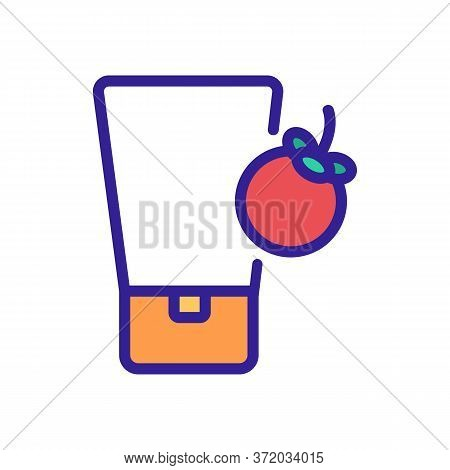Mangosteen Cosmetic Cream Tube Icon Vector. Mangosteen Cosmetic Cream Tube Sign. Color Symbol Illust