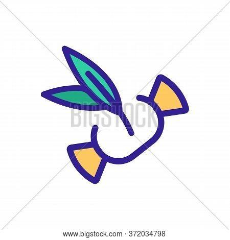 Eucalyptus Candy Icon Vector. Eucalyptus Candy Sign. Color Symbol Illustration