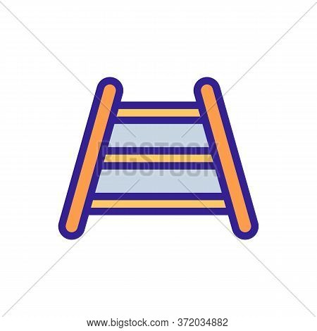 Dog Training Stairs Icon Vector. Dog Training Stairs Sign. Color Symbol Illustration