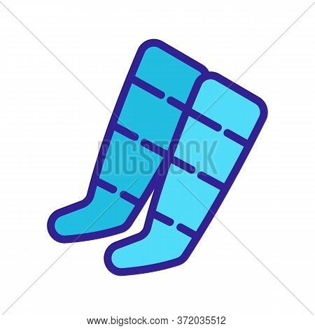 Anti Cellulite Socks Icon Vector. Anti Cellulite Socks Sign. Color Symbol Illustration