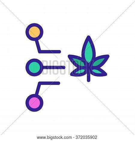 Cannabis Medicine Properties Icon Vector. Cannabis Medicine Properties Sign. Color Symbol Illustrati