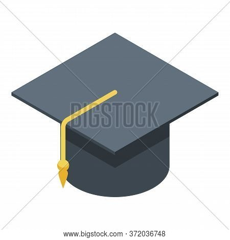 Student Graduate Hat Icon. Isometric Of Student Graduate Hat Vector Icon For Web Design Isolated On