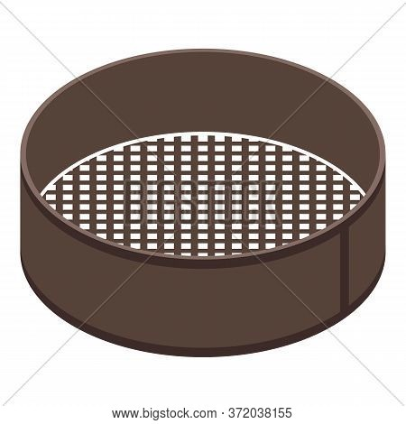 Sieve Icon. Isometric Of Sieve Vector Icon For Web Design Isolated On White Background