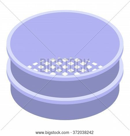 Flour Sieve Icon. Isometric Of Flour Sieve Vector Icon For Web Design Isolated On White Background