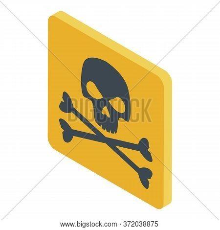 Biohazard Skull Sign Icon. Isometric Of Biohazard Skull Sign Vector Icon For Web Design Isolated On