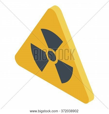 Radiation Sign Icon. Isometric Of Radiation Sign Vector Icon For Web Design Isolated On White Backgr