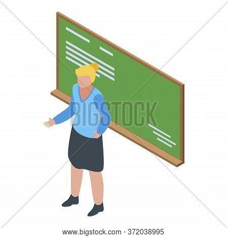 Classroom Foreign Language Teacher Icon. Isometric Of Classroom Foreign Language Teacher Vector Icon