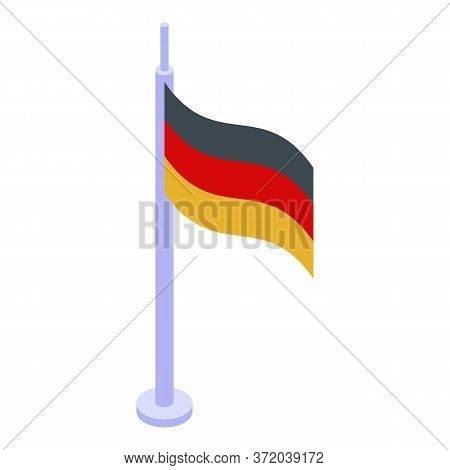 Germany Foreign Language Flag Icon. Isometric Of Germany Foreign Language Flag Vector Icon For Web D