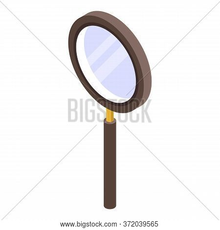 Old Investigator Magnifier Icon. Isometric Of Old Investigator Magnifier Vector Icon For Web Design