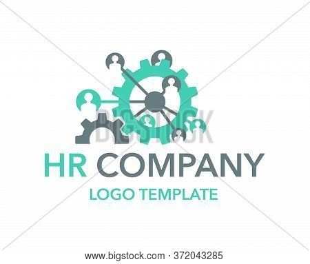 Human Resources (hr) Or Team Work (working Solutions) Logo Template - Creative Emblem With People Av