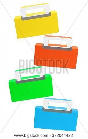 Four Colourful Takeaway Cake Boxes on White Background