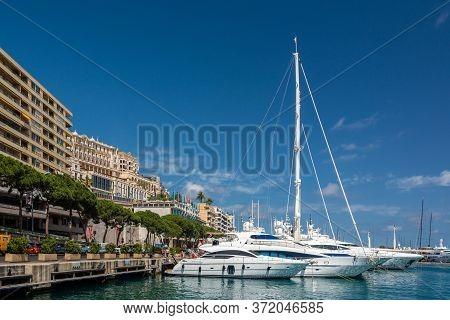 Monte Carlo, Monaco - June 13, 2019 : Monte Carlo Is A City In Monaco, Situated On A Prominent Escar