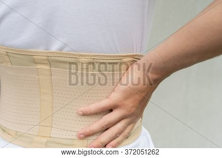 Corset For Back Support For Muscle Back, Spinal Pain.