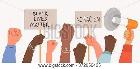 Black Lives Matter, A Crowd Of Protestors