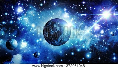 Abstract, Astronomy, Background, Blue, Blue Starry Sky, Bright, Starlight, Cluster Of Stars, Space,
