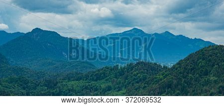 Typical Mountain Chain In Bavaria Germany - The German Alps. High Quality Photo