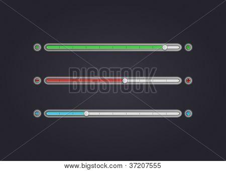 Set Of Modern Volume Bar, Vector Illustration