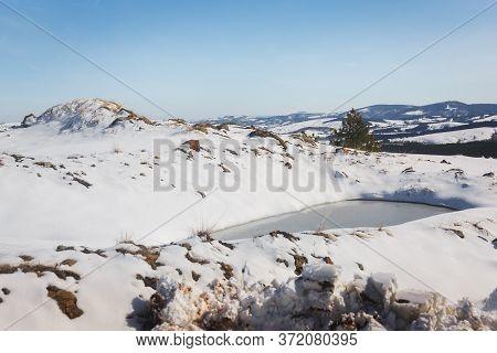 Winter Wonderland. Mountain Landscape During The Winter