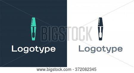 Logotype Mascara Brush Icon Isolated On White Background. Logo Design Template Element. Vector Illus