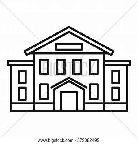 City University Icon. Outline City University Vector Icon For Web Design Isolated On White Backgroun