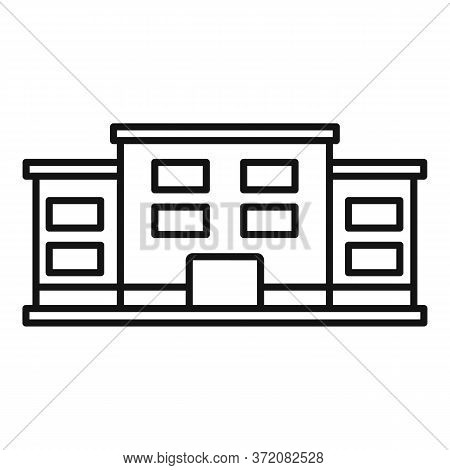 Famous University Icon. Outline Famous University Vector Icon For Web Design Isolated On White Backg