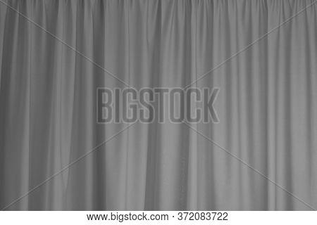 Grey Curtain Interior Textile Element Close Up