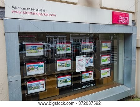 Chester, Uk: Jun 14, 2020: The Chester Branch Of Strutt And Parker Estate Agents Displays A Poster E