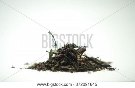 Bai Mu Dan (white Peony) Chinese White Tea Isolated On White Background