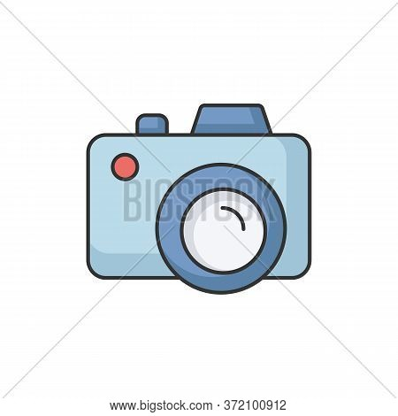 Camera Rgb Color Icon. Freelance Photographer. Take Picture. Photography Device. Shoot Snapshot. Foc