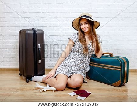 Staycation At Home. The Woman Can Not Travel Because Of The Quarantine